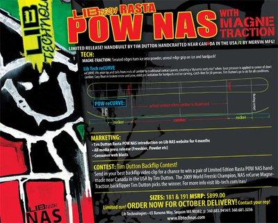 2011 Lib Tech Rasta NAS POW Skis - Newschoolers com