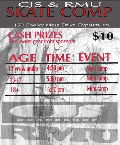 Skate Contest Friday Oct 22nd