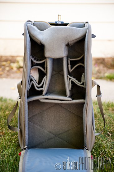 Front View Of The Main Compartment In Clik Elite Volt With Padded Dividers Configuration Pack Comes Is Designed To Be Able