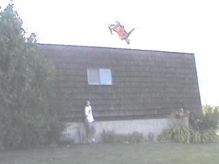 Backflip off the roof