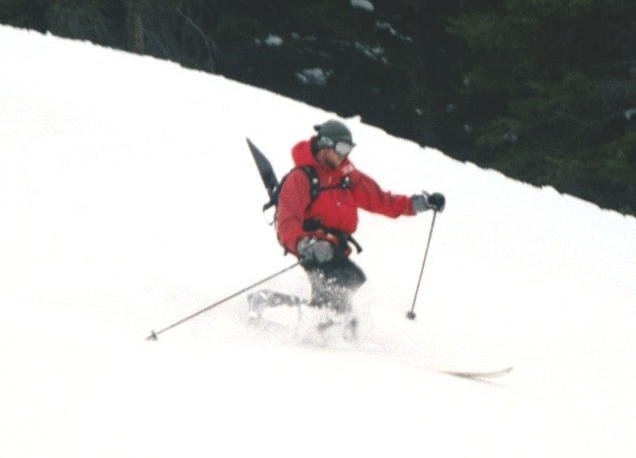 Just backcountry skiing...trick: not to fall on face