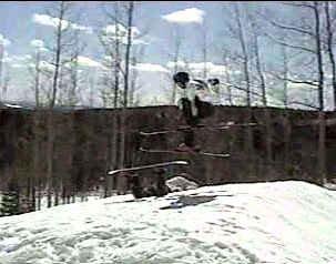 bonking the snowboarder