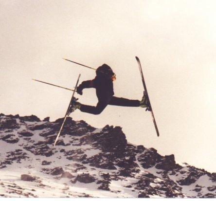Backcountry jump!