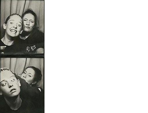 Me and my friend in the photo booth -thats me on the right