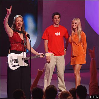 i know that the woman with the guitar is Aleisha Cline and the guy is Jonny Moseley but who is the l
