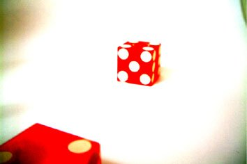picture of dice i took and fucked around with in photoshop