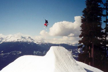 25-35ft Tail grab in Blackcomb