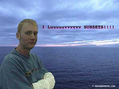 Dan likes sunsets and boys