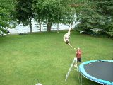 huge rodeo off trampoline over ladder-insane air
