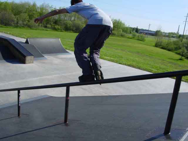 Handrail at park