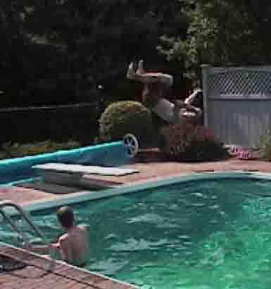 Loop 180 i believe into pool