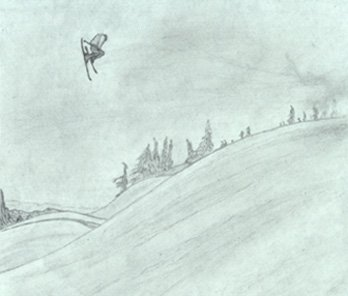 A warm up sketch of Szocs from Freeskier