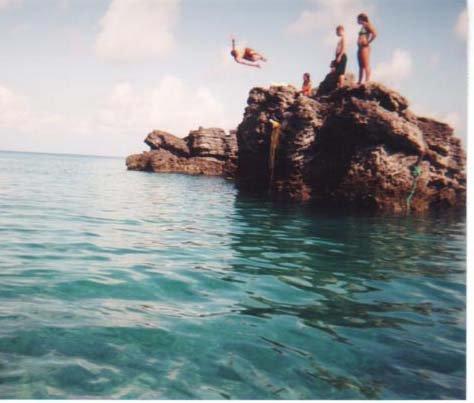 Misty 5 off cliff in Bermuda