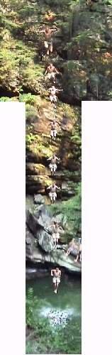 fuckin HUGE cliff drop at biggam falls