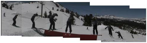 Long flat rail sequence at mammoth