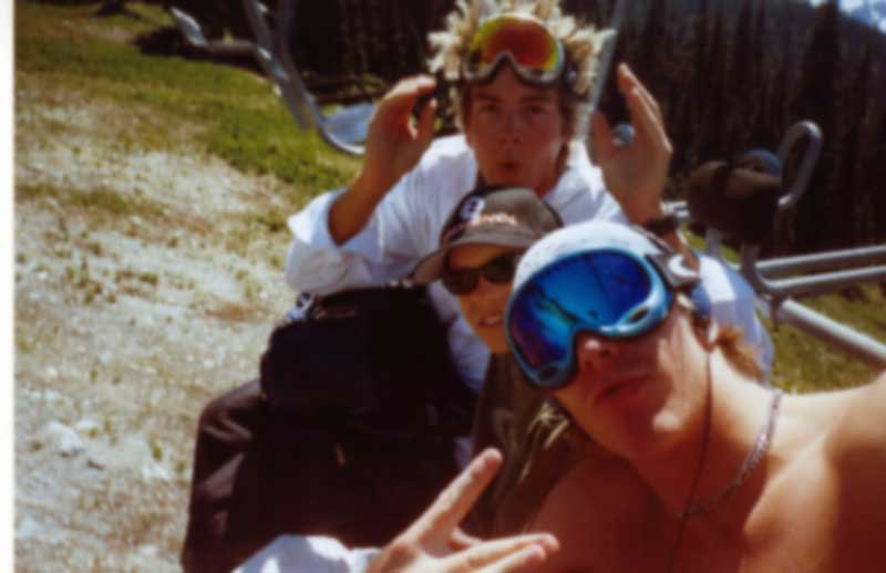 me, kye and dustin.  we made out on the lift...I mean uhhh oh god