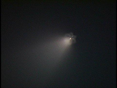 huge ass meteor exploding in a starburst