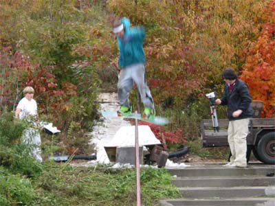 Boardslide on Handrail
