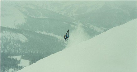 Front flip in Canadian Back Country