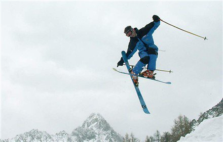 Tail grap in Back Country Chamonix