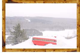 The bus gap at Giants Ridge (Northern Minnesota)