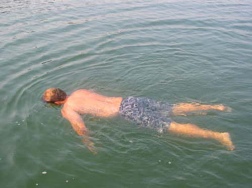 heres a dead body we found in the lake