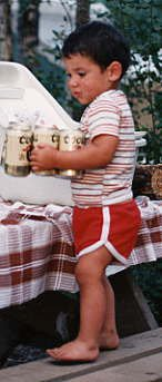 My bro at age 5 with beer