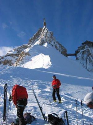 Unroping after the midi arrette (3842m)