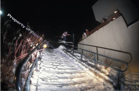 Handrail in downtown Ketchum, ID (sorry that it's far away)