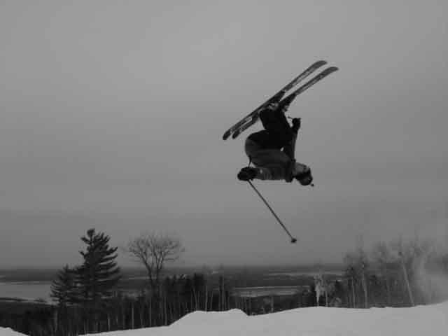 Back Flip in black and white