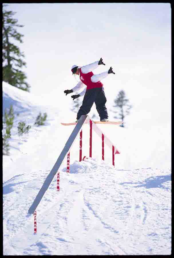 Four arm man(snowboarder)