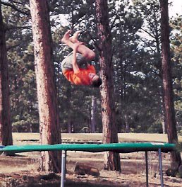 Front Flip on Tramp