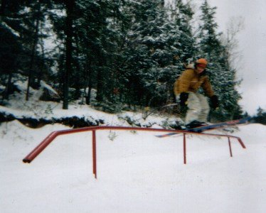 grindin the straight rail at calabogus