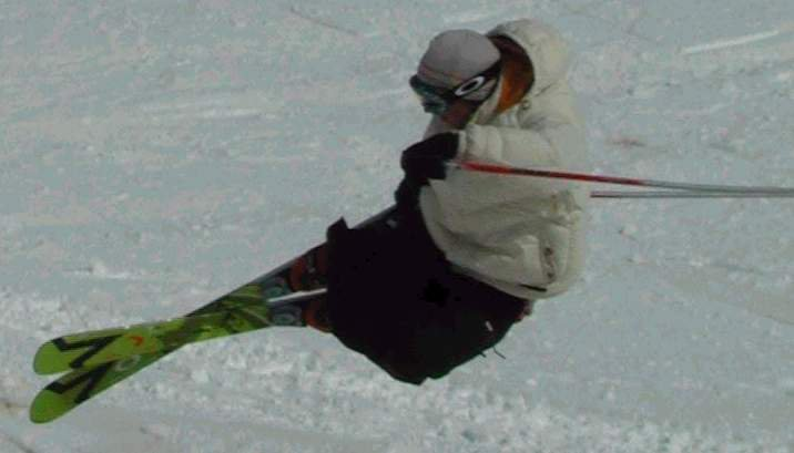 Hamish busting out of the pipe on way to 1st place NZ halfpipe