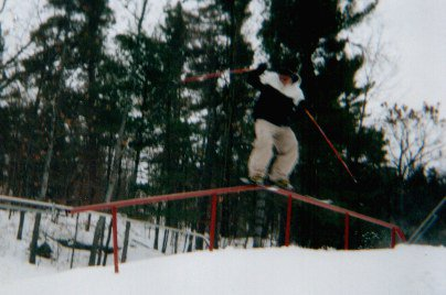 kinda blurry pic of kinked rail at calabogie