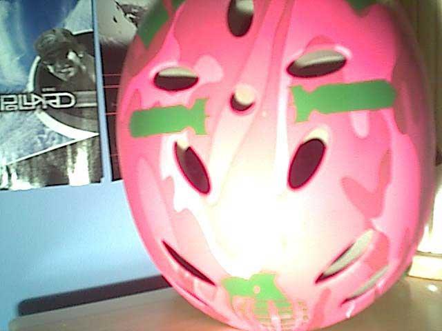 my dope pink helmet