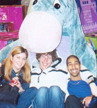 Us with Jay's best friend- Giant Eeyore!