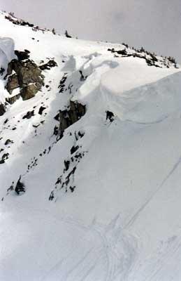 Cliff hucking off high test