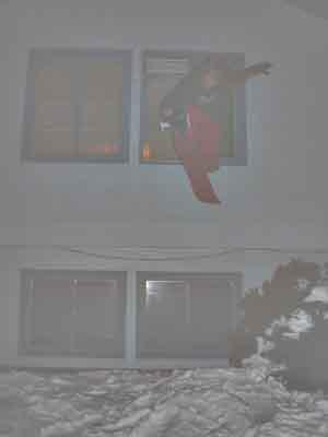 snowskate acid drop from window