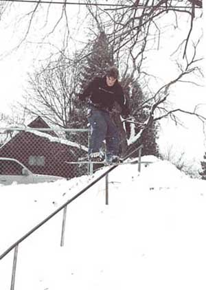 Theo dominates the Cooley rail