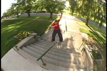 Brinton doing his thing on a streetboard fs 270Lipslide