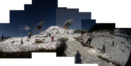 *SEQUENCE* Fish-i 180 mute over Mt. Rainier