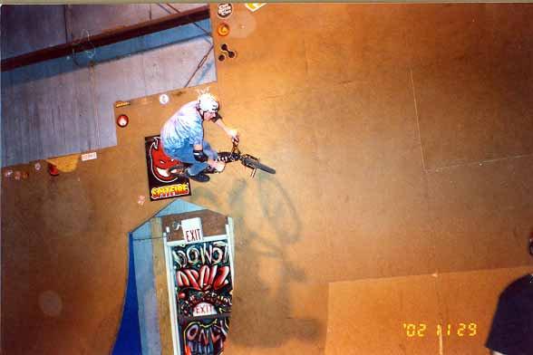 Wallride over the door (bmx)