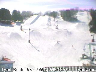 1/2 of our terrain park can be seen here
