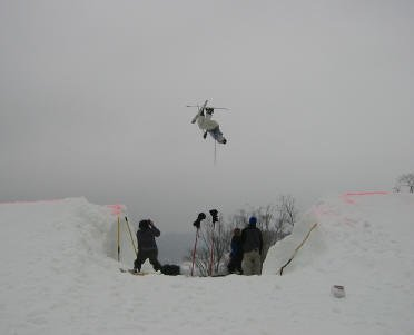 Backflip over the transfer gap during the Paoli Peaks Big Air