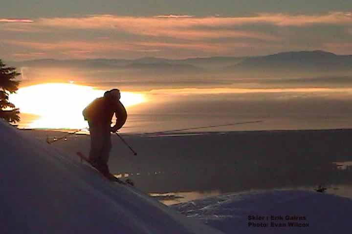 Sick day skiing