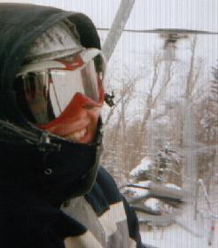 Riding up the lift