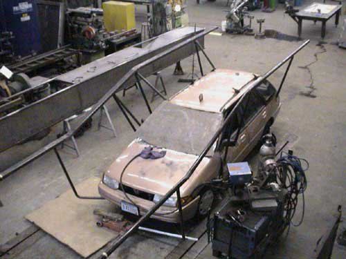 Orage Masters Car Jib being built