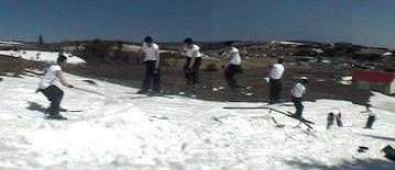 rail + snow = tons of fun