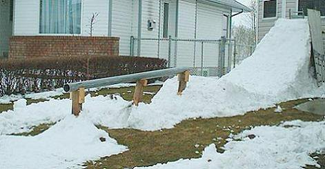 Yard Rail Set up, Vids up in winter section